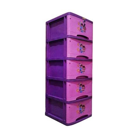Lemari Plastik Bergambar Jual Tulip Bergambar 5 Susun Lemari Plastik Pink