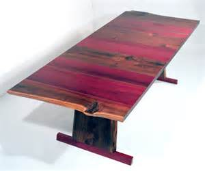 Solid walnut dining table absolutely gorgeous with purple heart wood