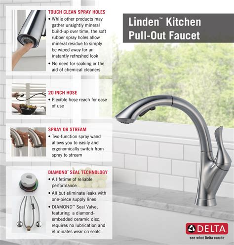 delta 4153 dst linden single handle pull out kitchen delta linden single handle pull out sprayer kitchen faucet