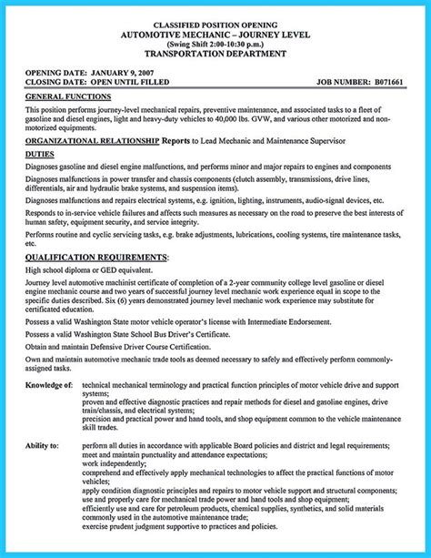 delivering your credentials effectively on auto mechanic resume 11 best resume images on resume resume design