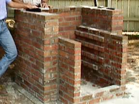 diy brick pit how to build brick bbq pit