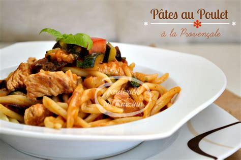 pates poulet sauce proven 231 ale au basilic recette de cuisine