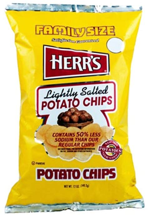 herrs lights herr s lightly salted potato chips snacks