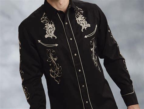 pattern western shirt roper men s twill w swirl pattern embroidery western shirt