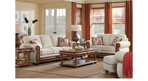 cindy crawford living room furniture key west cove beige 7 pc living room classic