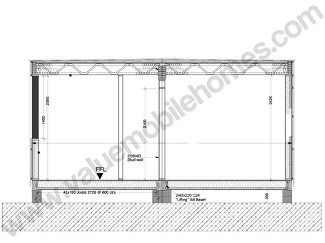 flat roof section mobile home specification roof types and sections