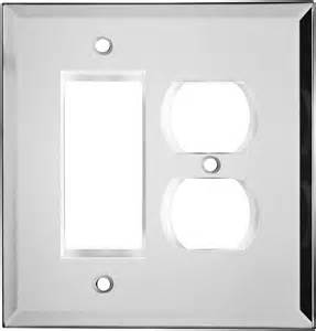 glass mirror light switch plates outlet covers wallplates