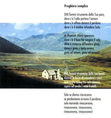 preghiera semplice testo preghiera semplice di san francesco d assisi