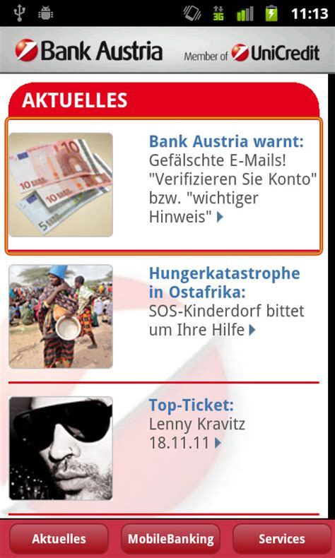 bank austria mobile banking app bank austria mobilebanking android apps im test androidpit