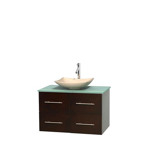 Green Glass Vanity by Wyndham Collection Wcvw00936sesgggs5mxx Centra 36 Inch