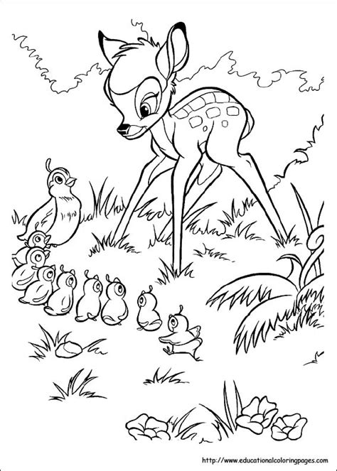 educational coloring pages com disney html bambi coloring pages educational fun kids coloring pages