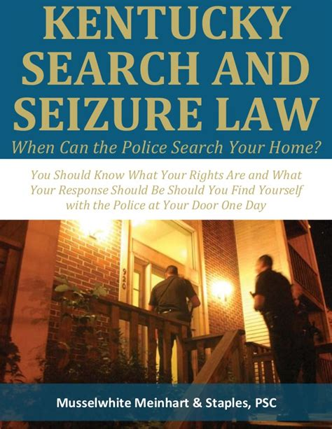 Illegal Search And Seizure Kentucky Search And Seizure