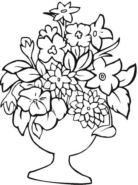 coloring pages of vase with flowers vase pottery coloring page