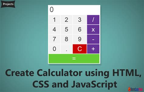 calculator with javascript create calculator using html css and javascript