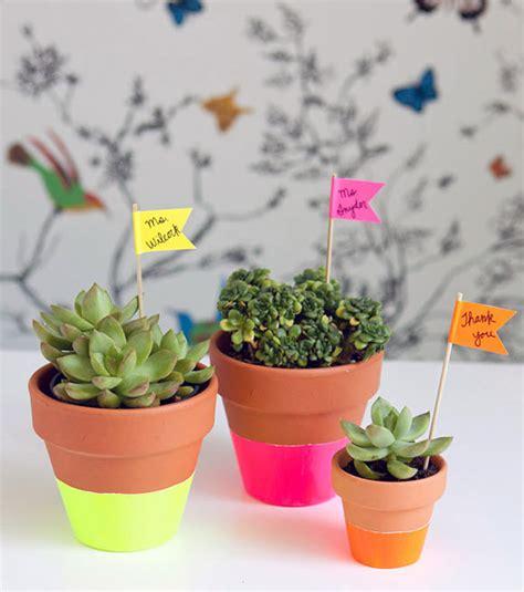 homemade flower pots 8 bright cheery neon spring crafts handmade charlotte