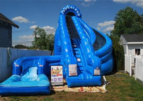 Backyard Blow Up Pools Riesige Aufblasbare Korkenzieher Wasserrutsche Doppelt