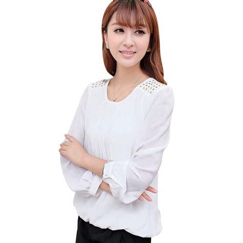 Blouse Jumbo Xl Fit Sorena Black Twistcone Big Size charm white black chiffon shirts large size l 4xl fashion rivet design