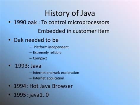 Historis Of Java history of java