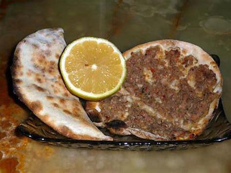 recette de cuisine libanaise recette de pizza 224 la viande fa 231 on libanaise