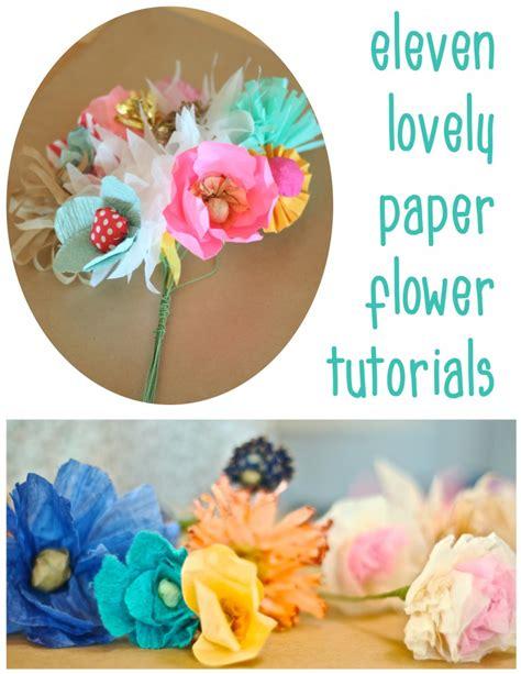 How To Make Handmade Flower Bouquet - 11 diy paper flower tutorials dear handmade