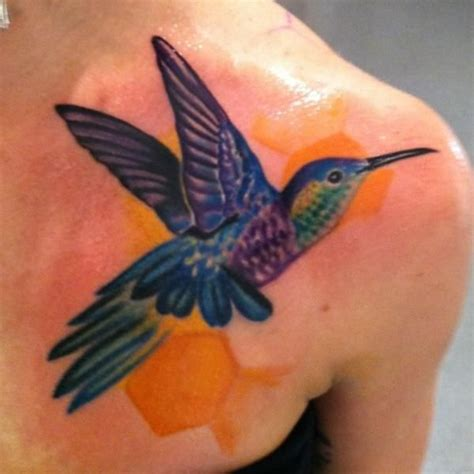 realistic hummingbird tattoos blue hummingbird ideas
