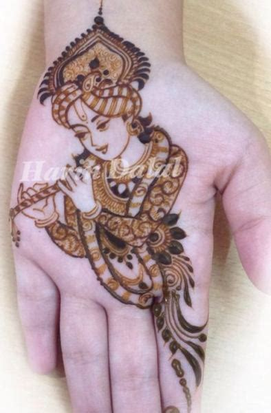 30 innovative mehndi designs for krishna janmasthami