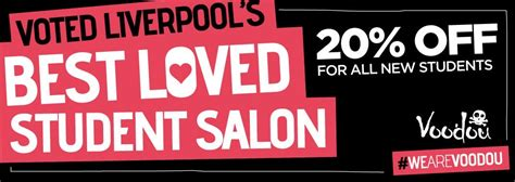discount vouchers liverpool student discount at voodou liverpool salons and barbers
