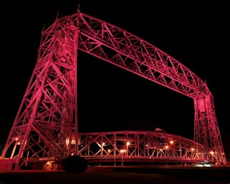 boat lifts for sale duluth mn duluth aerial lift bridge on canal park lit pink for