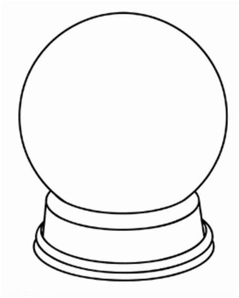snow globe coloring page blank coloring pages