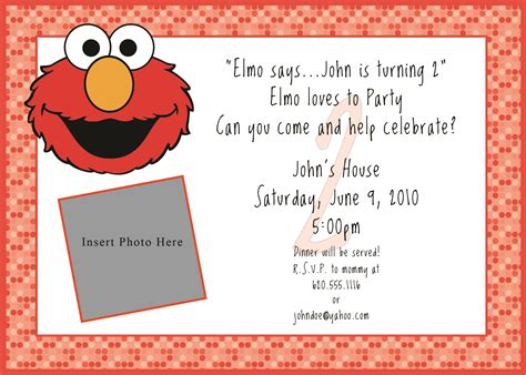 elmo invitation innovative designs blog