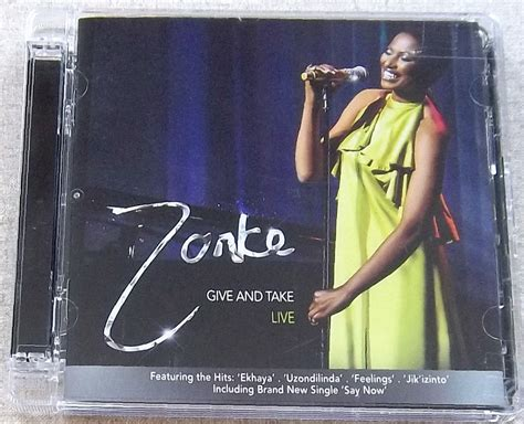 zonke say now zonke give and take live south africa 2 cd cat cdstep144