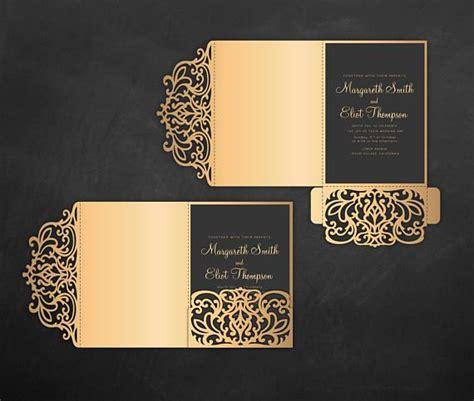 tri fold card cricut template tri fold pocket envelope 5x7 wedding invitation dxf svg
