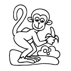 monkey clipart coloring page colouring monkey clipart best