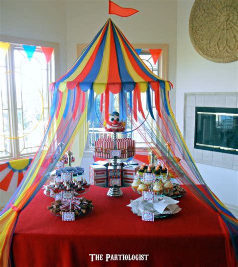 circus theme decor the partiologist the big top