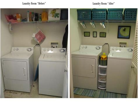 laundry room quot before quot and quot after quot 3 50 crates 1 tin pails from target rug from crate