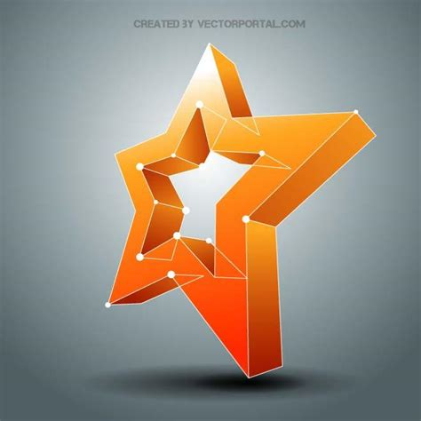 Star 3d Vector Download At Vectorportal | star 3d vector download at vectorportal