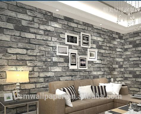 2015 modern design sticker pvc 3d wall paper with marble