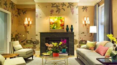 home design with yellow walls fabulous living room wallpaper design ideas