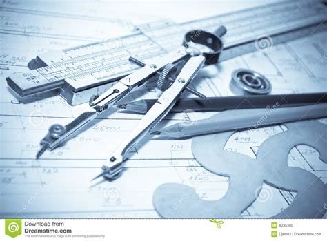 blueprint tool architecture blueprint tools stock photo image 8035380