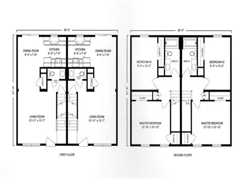 2 Story Duplex House Plans | modular ranch duplex with garage plan modular duplex two