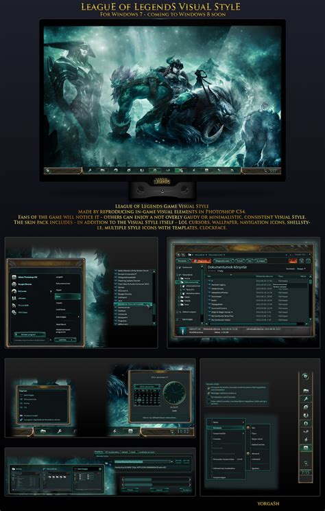 themes for windows 7 league of legends league of legends game theme for win7
