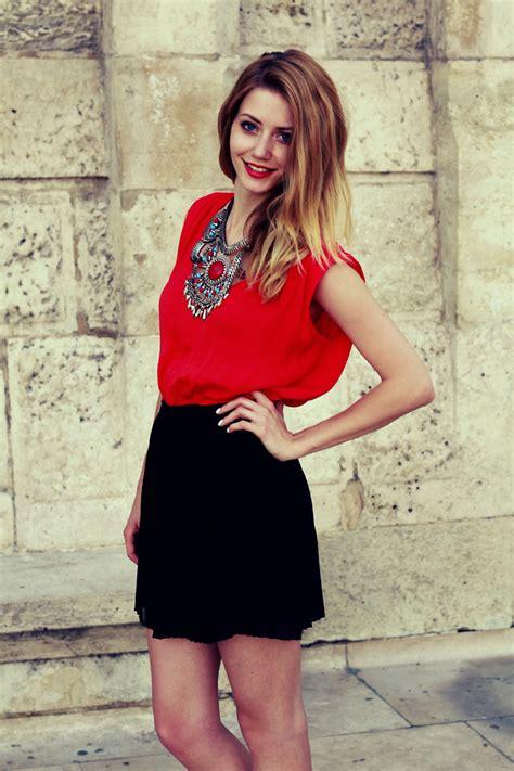 Kalung Choker Zara 605 vivienn nagy h m necklace zara top stradivarius skirt just one lookbook
