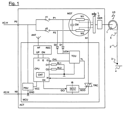 wiring diagram for electric roller shutter and motor