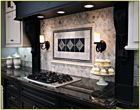 silver travertine tile backsplash home design ideas