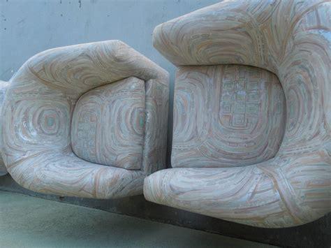 swivel barrel chair fabric vintage pair of modern brass barrel swivel chairs in