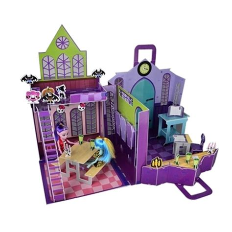 doll house school 66pcs monster inc hight 3d puzzle model cartoon monster