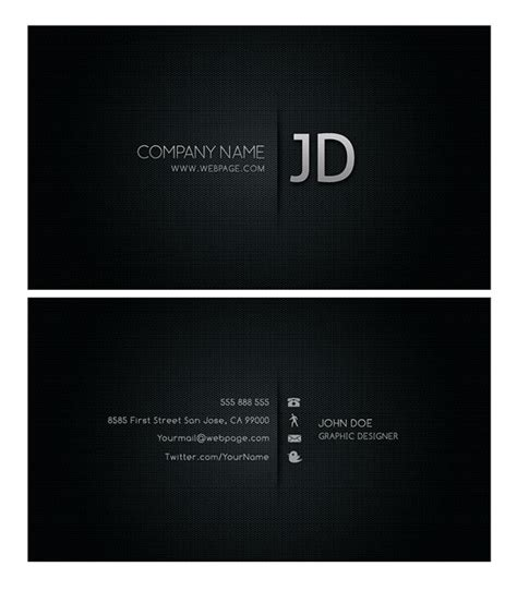 black background business card template free 4 designer psd layered material cool business card templates