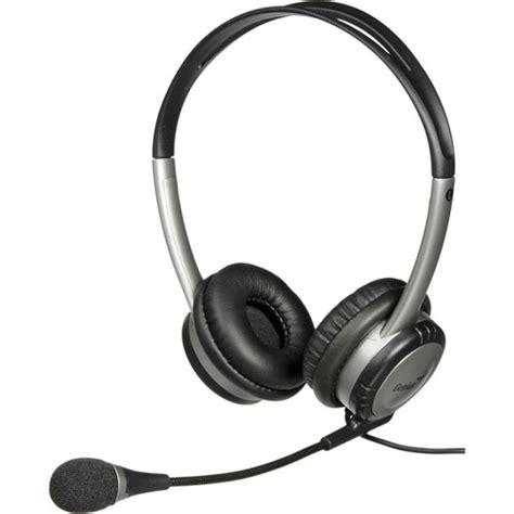 Headphone Genius Genius Hs 04b Stereo Headset With Noise Canceling Hs 04b B H
