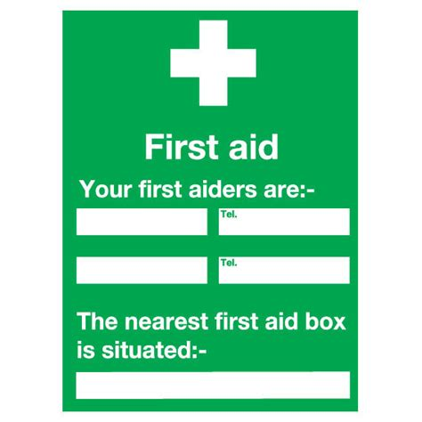 first aid your first aiders are sign ese direct