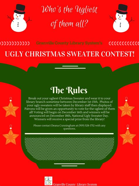 Ugly Christmas Sweaters Flyer